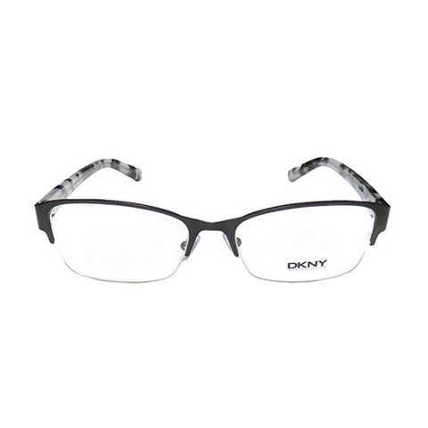 Donna Karan DKNY Women's DY5651 1004 53 Rectangle Metal Plastic Black Clear Eyeglasses