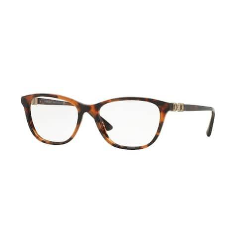 Versace Women's VE3213B 944 54 Cateye Plastic Brown Clear Eyeglasses