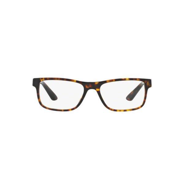 f88d9fb220f2e Versace Men  x27 s VE3211 5143 55 Rectangle Plastic Brown Clear Eyeglasses