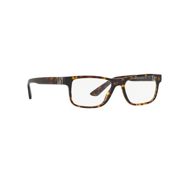 c975281ce2 Versace Men  x27 s VE3211 108 55 Rectangle Plastic Brown Clear Eyeglasses
