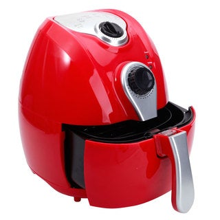 Red 1500W Smart Multifunctional Electric Air Fryer with Adjustable Temperature and Time