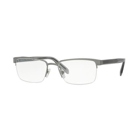 b81c166b5248 Versace Men s VE1241 1264 54 Rectangle Metal Plastic Gunmetal Clear  Eyeglasses