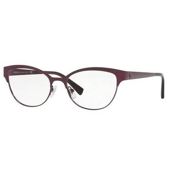bd07e1f4022b Versace Women  x27 s VE1240 1397 53 Oval Metal Purple Clear Eyeglasses