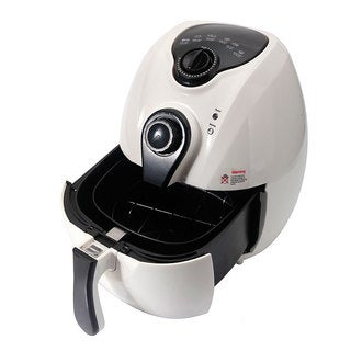 1500W Smart Multifunctional White Electric Air Fryer with Adjustable Temperature and Time
