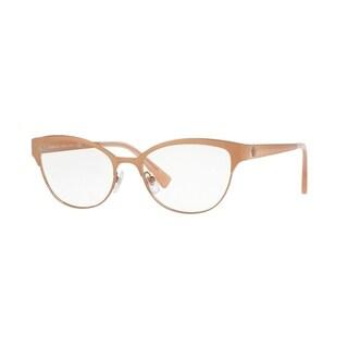 Versace Women's VE1240 1396 53 Oval Metal Brown Clear Eyeglasses