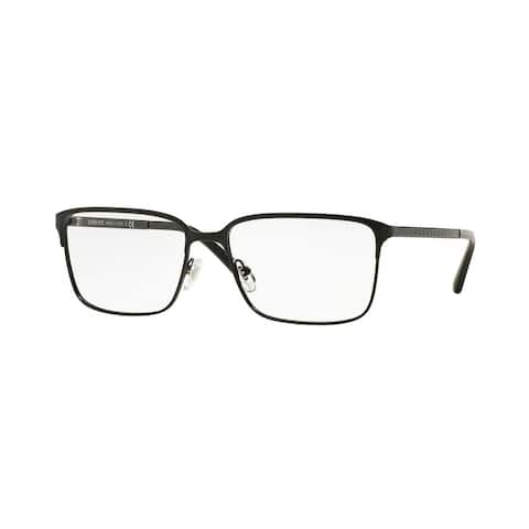 63ea9021da6ee Versace Men s VE1232 1261 54 Rectangle Metal Black Clear Eyeglasses