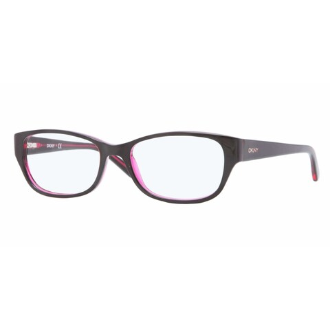 Donna Karan DKNY Women's DY4646 3624 53 Oval Plastic Orange Clear Eyeglasses