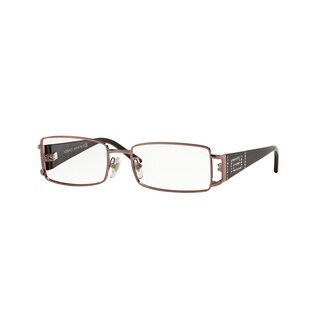 Versace Women's VE1163B 1333 52 Rectangle Metal Plastic Purple Clear Eyeglasses