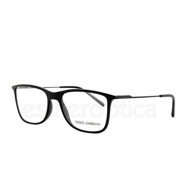 5d1d03049e51 Dolce & Gabbana Men's DG5024 501 55 Rectangle Plastic Black Clear
