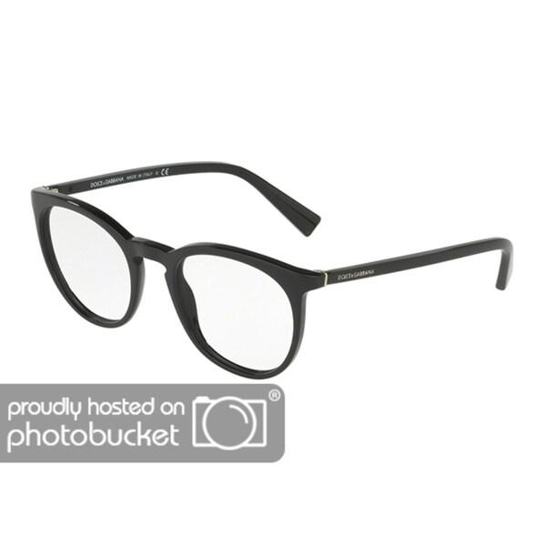 a4e8cb1a684 Shop Dolce   Gabbana Men s DG3269 501 51 Round Plastic Black Clear ...