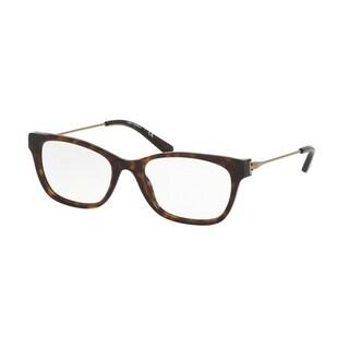 Tory Burch Women's TY2063 1033 53 Square Metal Plastic Havana Clear Eyeglasses