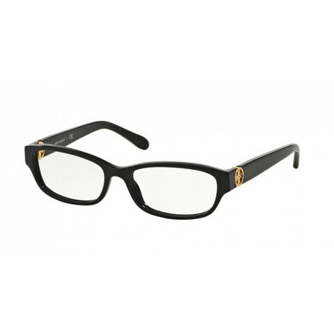 Tory Burch TY2055 Womens Black Frame Clear Lens Rectangle Eyeglasses
