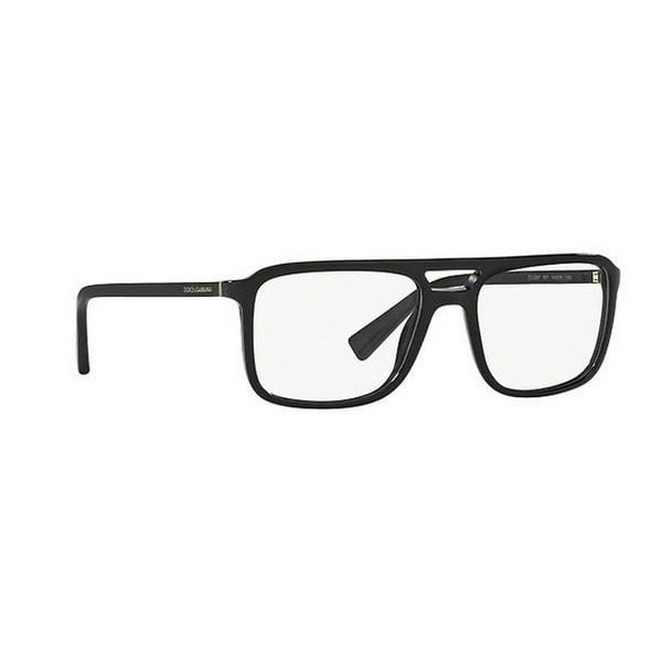 b6ffcc8fc67d Dolce  amp  Gabbana Men  x27 s DG3267 501 54 Rectangle Plastic Black Clear