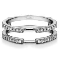 Platinum 1/3ct TDW Diamond Delicate Traditional Style Ring Enhancer