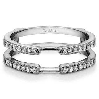 Sterling Silver 1/3ct TDW Diamond Delicate Traditional Style Ring Enhancer (More options available)