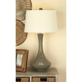 Urban Designs Bossa Nova Collection 30-Inch Glazed Ceramic Table Lamps - Set of 2