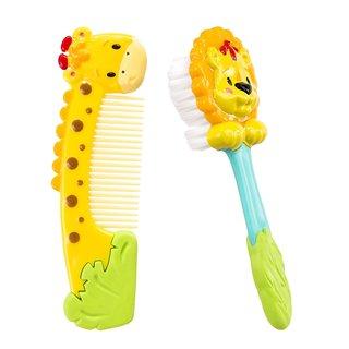 Sassy Jungle Soft Grip Comb and Brush Set