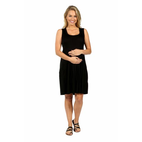 24/7 Comfort Apparel Hourglass Shift Maternity Dress