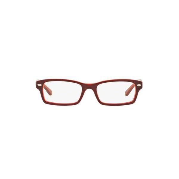 eee65ee60b Ray-Ban Men  x27 s RY1530 3665 48 Rectangle Plastic Brown Clear Eyeglasses
