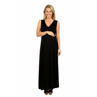 24/7 Comfort Apparel Island Fire Maxi Maternity Dress