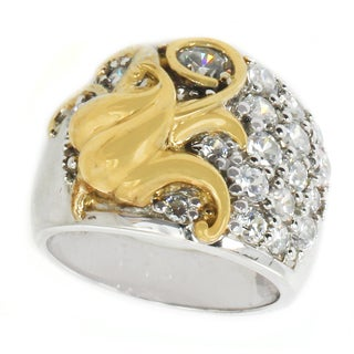 Michael Valitutti Sterling Silver Cubic Zirconia Ring