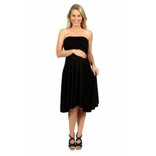 24/7 Comfort Apparel Irresistible Black Party Maternity Dress