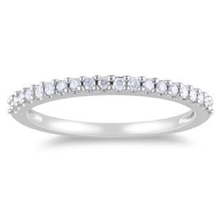 Miadora 10k Gold 1/ 5ct TDW Diamond Eternity Wedding Band (H-I, I2-I3)