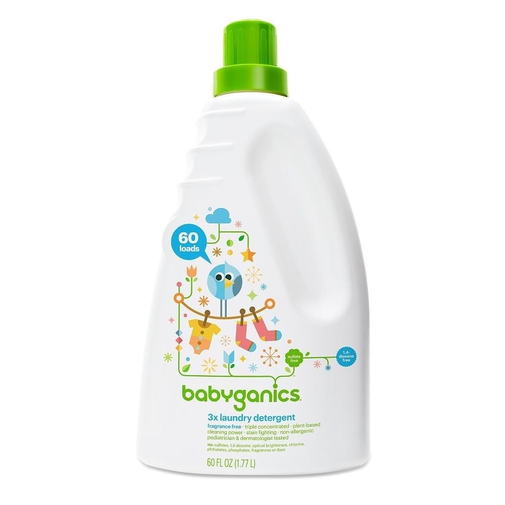 BabyGanics 60-ounce Fragrance-free 3x Laundry Detergent (...