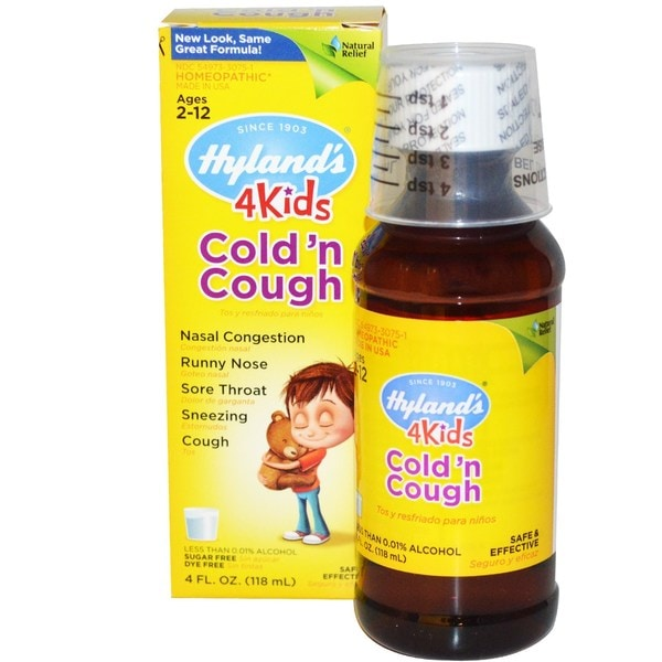 Shop Hyland S 4 Kids 4 Ounce Cold N Cough Syrup Free