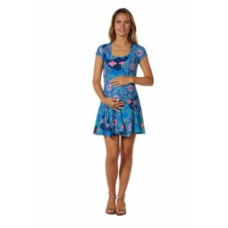 24/7 Comfort Apparel Women's Maternity Abstract mandala Pattern Dress