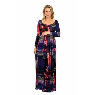 24/7 Comfort Apparel Turn on the Heat Maxi Maternity Dress