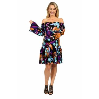 24/7 Comfort Apparel Lush Tropical Drama Maternity Party Dress (2 options available)