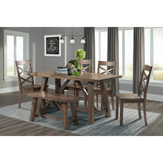 Picket House Furnishings Regan 6PC Dining Set-Table, 4 Dining Chairs & Dining Bench https://ak1.ostkcdn.com/images/products/14780862/P21302512.jpg?impolicy=medium
