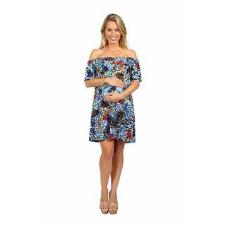 24/7 Comfort Apparel Summertime Sophistication Mini Maternity Dress