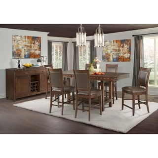 Picket House Furnishings Pruitt Counter 8PC Dining Set-Table, 6 Counter Dining Chairs & Server