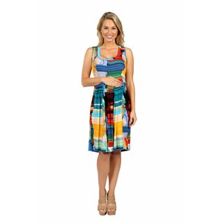 24/7 Comfort Apparel French Watercolor Maternity Shift Dress