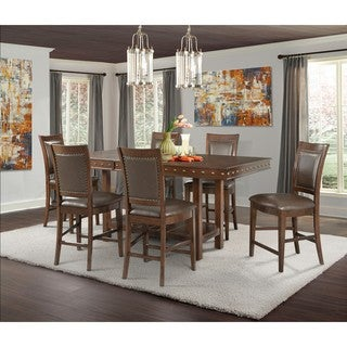Picket House Furnishings Pruitt Counter 7PC Dining Set-Table & 6 Counter Dining Chairs