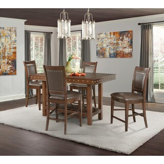 Picket House Furnishings Pruitt Counter 5PC Dining Set-Table & 4 Counter Dining Chairs