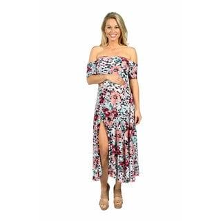 24/7 Comfort Apparel Angel Orchid Maternity Dress
