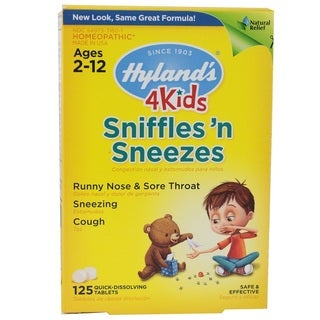 Hyland's 4 Kids Sniffles 'n Sneezes Tablets (Case of 125)