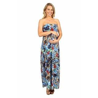 24/7 Comfort Apparel Dappled Florals Maternity Dress