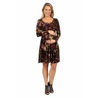 24/7 Comfort Apparel Quiet Sort of Glamour Maternity Dress