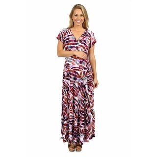 24/7 Comfort Apparel Tigers Eye Maxi Maternity Dress