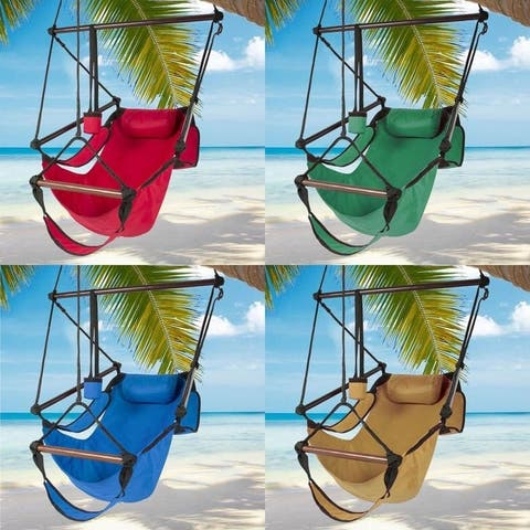 Well-equipped S-shaped Hook S-hook Cacolet Green Hanging Seat Hammock Chairs