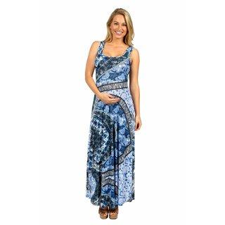 24/7 Comfort Apparel Blue Magic Maternity Dress