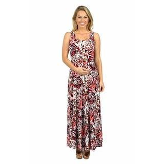 24/7 Comfort Apparel Elegant Afternoons Maternity Dress