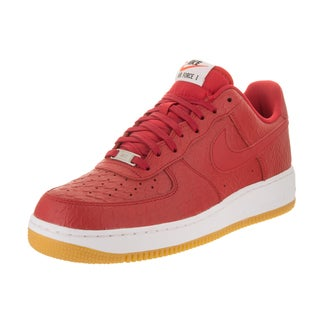 Nike Men's Air Force 1 '07 LV8 Red Leather Basketball Shoes