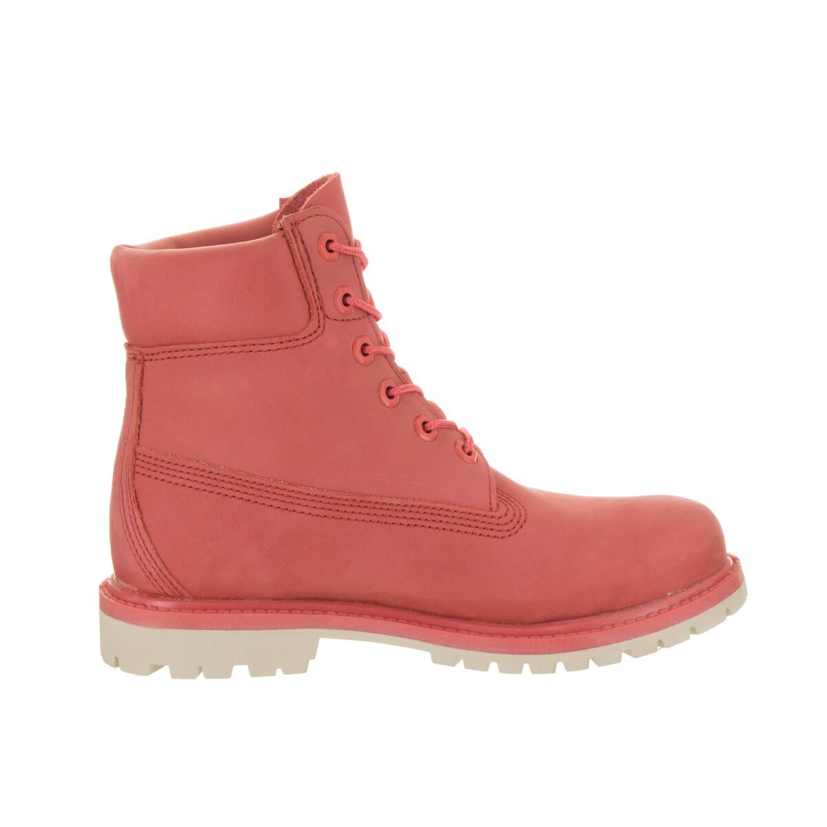 Shop Timberland Women's AF Pink Nubuck 6 inch Premium WP