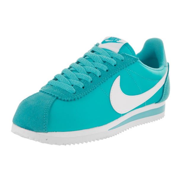free shipping 08377 6baab Nike Women  x27 s Classic Cortez Blue Suede Nylon Casual Shoes