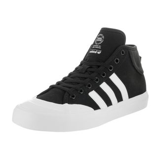 Adidas Men's Matchcourt Black Canvas Mid Skate Shoes
